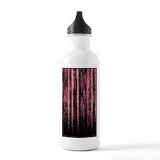 Digital Rain - Red Water Bottle