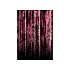 Digital Rain - Red 5'x7'Area Rug