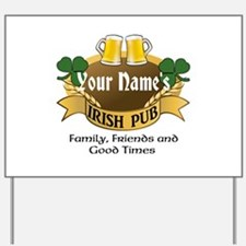 Personalized Name Irish Pub Yard Sign