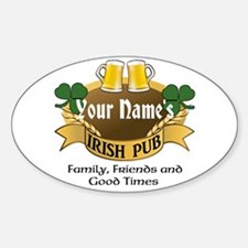 Personalized Name Irish Pub Decal