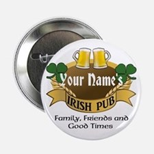 Personalized Name Irish Pub 2.25&Quot; Button