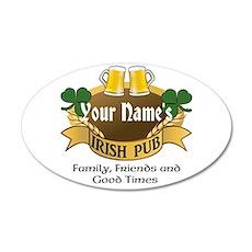 Personalized Name Irish Pub Wall Decal