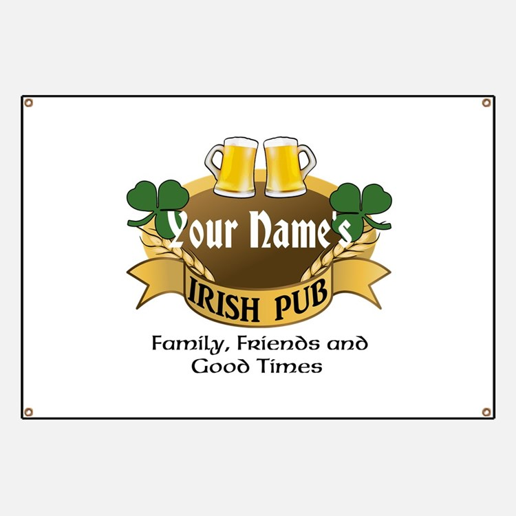 Personalized Name Irish Pub Banner