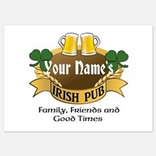Personalized Name Irish Pub Invitations