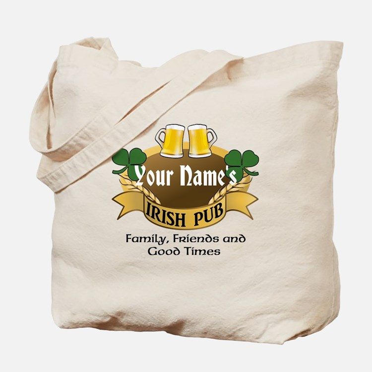 Personalized Name Irish Pub Tote Bag