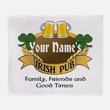 Personalized Name Irish Pub Throw Blanket