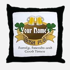 Personalized Name Irish Pub Throw Pillow