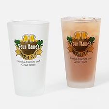 Personalized Name Irish Pub Drinking Glass