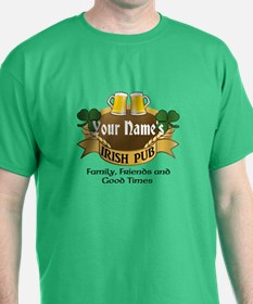 Personalized Name Irish Pub T-Shirt