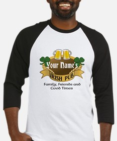 Personalized Name Irish Pub Baseball Jersey