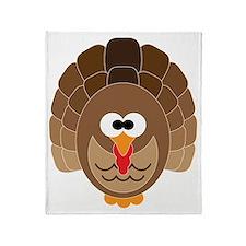 Cute Turkey Throw Blanket