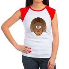 Cute Turkey Women's Cap Sleeve T-Shirt