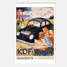 KDF Wagen,Original German Postcards (Package of 8)