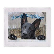 Howdy Neighbor Throw Blanket