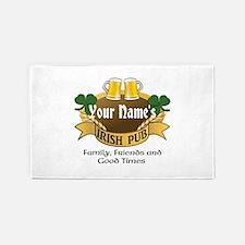 Personalized Name Irish Pub 3'X5' Area Rug