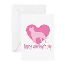 Cattle Dog Valentine Greeting Cards (Pk of 10)