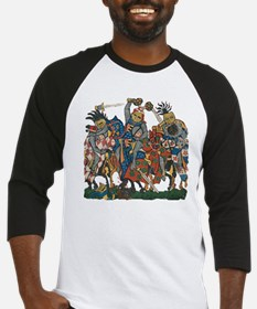 Medieval Knights in Combat Baseball Jersey