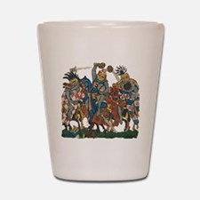 Medieval Knights in Combat Shot Glass
