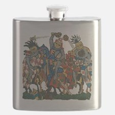 Medieval Knights in Combat Flask