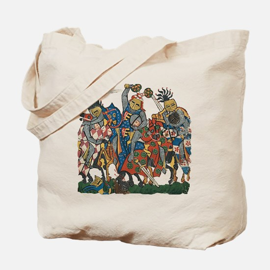 Medieval Knights in Combat Tote Bag
