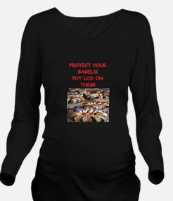 bagels and lox Long Sleeve Maternity T-Shirt