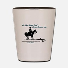 On the Trail Horse Rescue Shot Glass