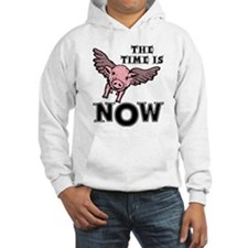 Time Now When Pigs Fly Flying Hoodie Sweatshirt
