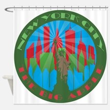 NYC Big Apple primary Shower Curtain