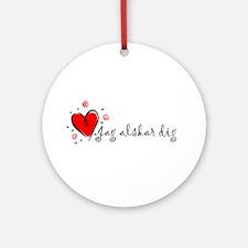"""I Love You"" [Swedish] Ornament (Round)"