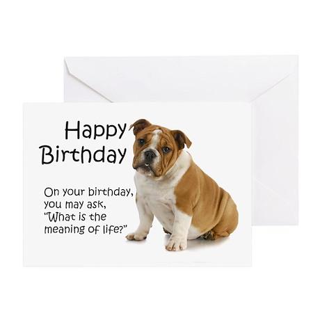 Bulldog Birthday Cards