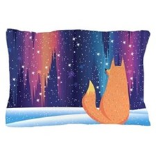 Northern Lights Fox Pillow Case