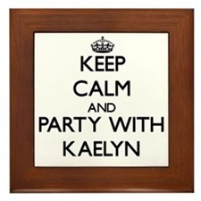 Keep Calm and Party with Kaelyn Framed Tile