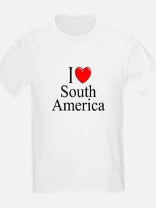 """I Love South America"" Kids T-Shirt"