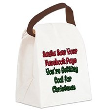 Santa Saw Your Facebook Page Gett Canvas Lunch Bag