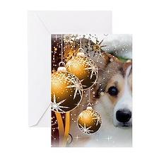 Holiday Sable Corgi Greeting Cards (pk Of 20)