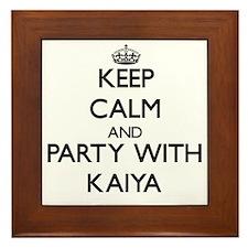 Keep Calm and Party with Kaiya Framed Tile