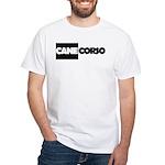 Cane Corso B&W White T-Shirt