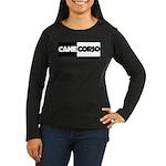 Cane Corso B&W Women's Long Sleeve Dark T-Shirt