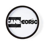 Cane Corso B&W Wall Clock