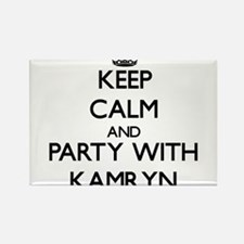 Keep Calm and Party with Kamryn Magnets