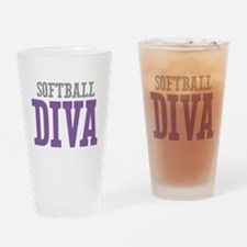 Softball DIVA Drinking Glass