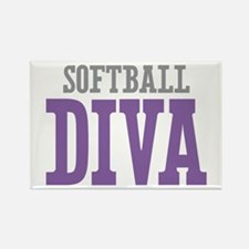 Softball DIVA Rectangle Magnet
