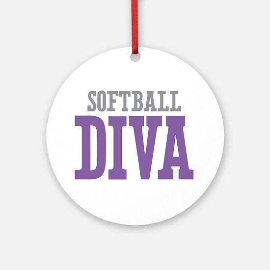 Softball DIVA Ornament (Round)