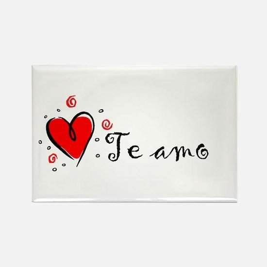 """I Love You"" [Spanish] Rectangle Magnet"
