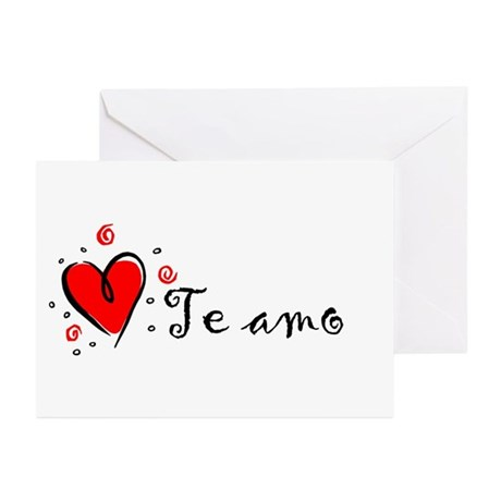 """I Love You"" [Spanish] Greeting Cards (Package of"