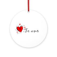 """I Love You"" [Spanish] Ornament (Round)"