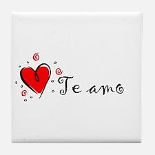 """""""I Love You"""" [Spanish] Tile Coaster"""