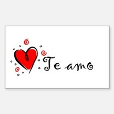 """I Love You"" [Spanish] Rectangle Decal"