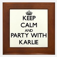 Keep Calm and Party with Karlie Framed Tile