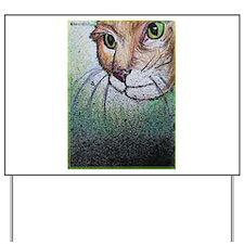 Cat! Animal, pet art! Yard Sign